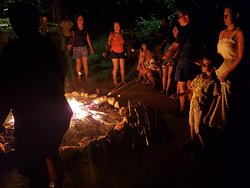 A music and star-filled bonfire