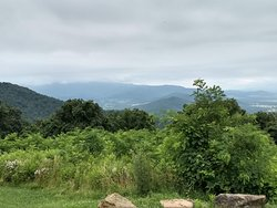 The view behind the visitor's center.
