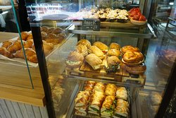 Fresh sandwiches, snacks and breads