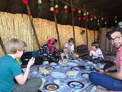 German family  with Qashqai Nomads