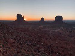 Sunrise in Monument Valley from my balcony at The View Hotel.