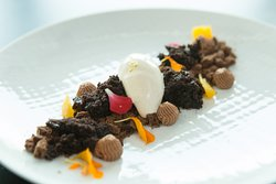 Deconstructed Chocolate Crumble