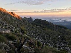 Sunrise on the way to Sapitwa Peak