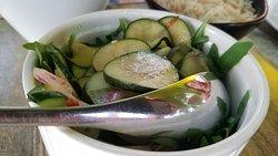 Cucumber salad with sesame.
