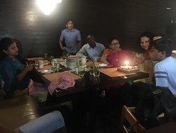 Birthday celebration of a family member