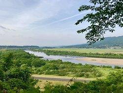 上からの北上川周辺風景