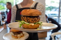 Our delicious GF earth burger...very popular!
