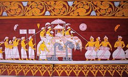 Mural inside the Temple of the Tooth