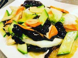 Vegyes sült zöldségek.
