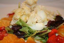 ensalada bacalao y naranja