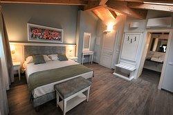 Camera Delux, 2 posti letto con la bella terrazza privata sui vigneti