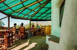 Galería con vista panorámica al Cerro uritorco