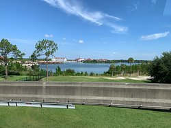 View of the Disney Resorts from the Monorail.