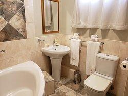 Bathroom with Deep Soaking Bathtub