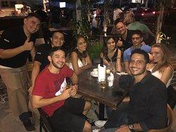Saída com amigos gringos