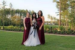 Wedding photos on the golf course.