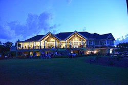 Our beautiful Clubhouse at night.