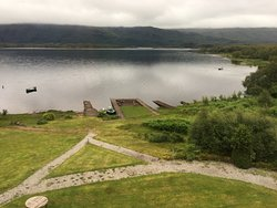 view of Loch maree from bedroom