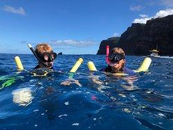 Snorkeling by Lanai