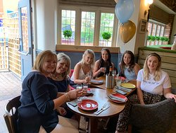 Celebratory and thank you meal for the nursery team from Rope Green Farm Day Nursery