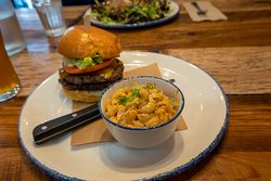 I had the Fast Joe burger with Chipotle Mac salad. Both were delicious.