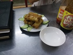 Fried veggie spring rolls. Dee- licious!!!!