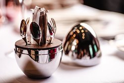 Luxury exudes even to the smallest of details like this tea spoon set by Christofle