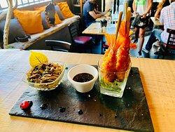Tempura de Crevettes Wok de légumes