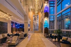 This photo showcases our front desk and check-in area. This is located on the 2nd floor of Hilton Norfolk THE MAIN.