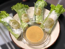 Saigon Vegan fresh rolls at Saigon Kava, Siauliai - Lithuania