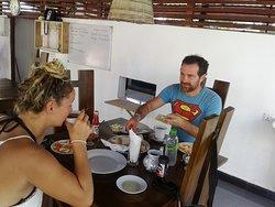 having breakfast at CCP Restaurant