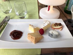 A delightful cheese plate, simple and elegant
