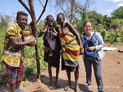 Amazing trip to Mursi tribes with my Chinese client.