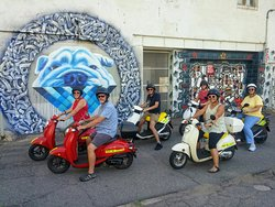 We recommend that you visit the murals in the alley in the Golden Triangle.