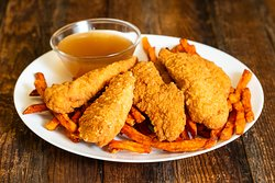Chicken Fingers with Sweet Potato Fries