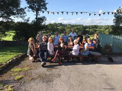 20 of us at The Queens Arms, Taddington