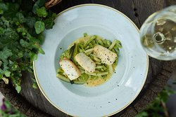 Зеленая паста с цуккини и палтусом / GREEN PASTA WITH ZUCCHINI AND HALIBUT
