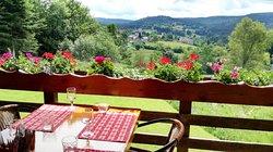 Vue sur le village de Liézey depuis la terrasse