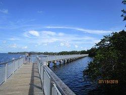 Walkway to island