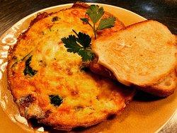 Vegetable cheese omelette with sourdough toast #omelette #breakfast #오믈렛 #oceangrovecafes