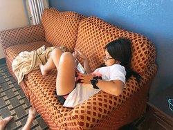 Relaxing sofa