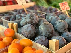 Beautiful fruits in the local market.