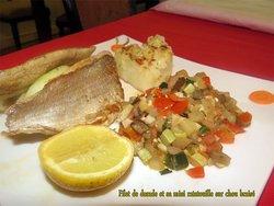 Sea bream and cabbage