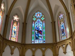 Stained Glass above the Main Altar--Cathedral Shrine of the Virgin of Guadalupe--Dallas, TX