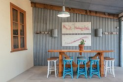 Our cellar door extends to the front patio -- perfect for the Australian summer!