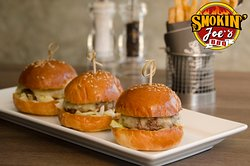 Black Angus Beef Sliders with melted Cheese