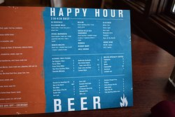 Our updated Happy Hour and drink menu!