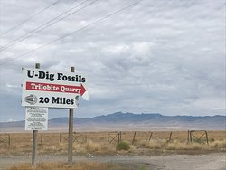You'll see this sign when you turn off the highway onto the gravel road.