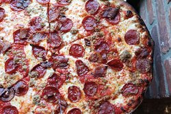 Coal Fired Pepperoni Pizza