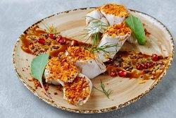 Рулеты из индейки с тыквой и пряным сыром